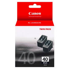 Canon PG40-TWIN Pigment Black Ink Cartridges - 2 Packs PG40-TWIN