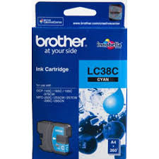Brother LC-38C ,Cyan Ink Cartridge to suit DCP-145C, DCP-165C, MFC-290C
