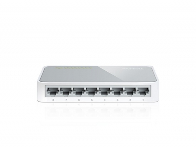 TPLink 8-port 10/100M mini Desktop Switch 8 Fast Ethernet RJ45 ports (10/100) Auto-MDI (X) Plastic TL-SF1008D