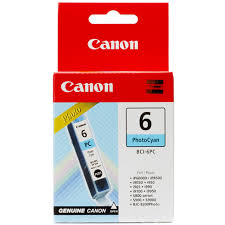 Canon BCI6PC, Photo Cyan Ink Cartridge;Ip3000/6000/8500,i9XX/9XXX,S8XX/9XX