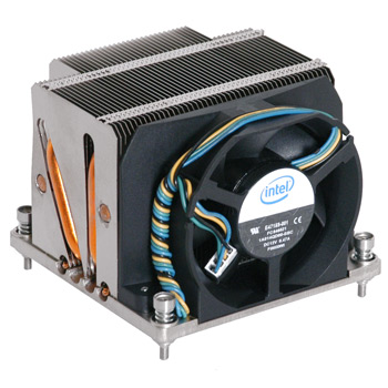 Intel BXSTS100C, Thermal Solution for 1366 and Xeon 55XX Series Processors, PASSIVE/ACTIVE COMBINATION HEATSINK WITH REMOVABLE FAN