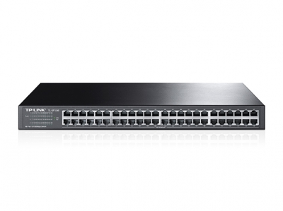 TPLink 48-port 10/100M Switch 48 Fast Ethernet RJ45 ports (10/100) Auto-MDI (X) 19 rack mountable (1U) steel case TL-SF1048