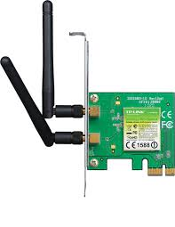 TPLink 300Mbps Wireless N PCI Express Adapter Atheros 2T2R 2.4GHz 802.11n/g/b with 2 detachable antennas TL-WN881ND