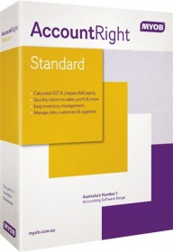 MYOB MA-FUL-AU, AccountRight Standard. Accounting software , inventory and business management tools for professional owner-operators.