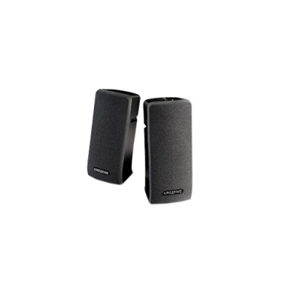 Creative 51MF1630AA001, SBSA35, 2.0 Desktop speakers, Volume control and power onoff Magnetically shielded, 2 Watts, 1 Year