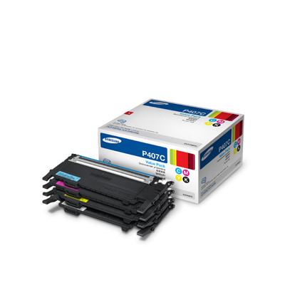 SamsungCLT-P407C Laser cartridge 1000pages Black Cyan Magenta Yellow toner cartridge CLT-P407C