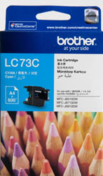 Brother CYAN HIGH YIELD INK CARTRIDGE - UP TO 600 PAGES LC-73C