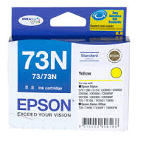 Epson 73N YELLOW INK FOR T21TX110TX210TX410TX550TX510TX610. C13T105492