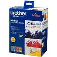 Brother Inkjet Cartridge for DCP145C/165C ink cartridge Cyan Magenta Yellow LC38CL3PK