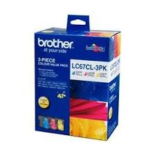 Brother Inkjet Cartridge for DC-385C ink cartridge Cyan Magenta Yellow LC67CL3PK