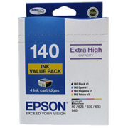 Epson 4 HIGH CAPACITY T140 INK VALUE PACK (4 COLOURS) C13T140692