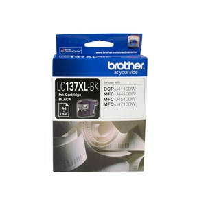 Brother BLACK INK CARTRIDGE TO SUIT DCP-J4110DW/MFC-J4410DW/J4510DW/J4710DW - UP TO 1200 PAGES LC-137XLBK