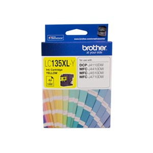 Brother YELLOW INK CARTRIDGE TO SUIT DCP-J4110DW/MFC-J4410DW/J4510DW/J4710DW - UP TO 1200 PAGES LC-135XLY