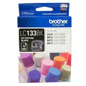 Brother BLACK INK CARTRIDGE TO SUIT DCP-J4110DW/MFC-J4410DW/J4510DW/J4710DW - UP TO 600 PAGES LC-133BK