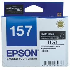 Epson 157 UltraChrome K3 Ink- Photo Black Ink Cartridge R3000 C13T157190