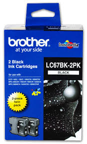 Brother Inkjet Cartridge for DCP-385C ink cartridge Black LC-67BK2PK