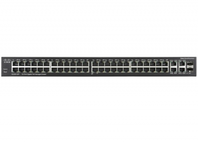 Cisco SG300-52P-K9-AU, SG-300 Series 52-Port 10100 PoE 802.3af, 2 combo mini-GBIC ports Switch, 7 Years