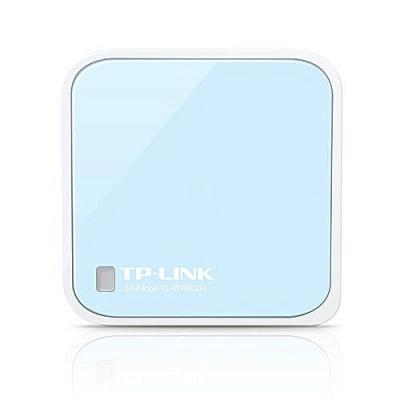 TPLink 300Mbps Wireless N Mini Pocket AP Router QCOM 2T2R 2.4GHz 802.11n/g/b 1 Ethernet Port 1 Micro USB port Internal Antenna Outside AC adapter TL-WR802N