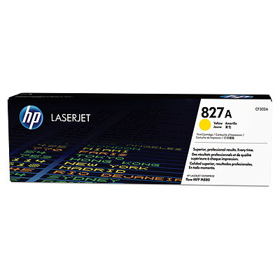 HP 827A YELLOW LASERJET TONER CARTRIDGE CF302A CF302A