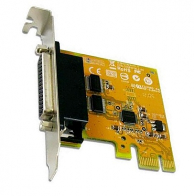 Sunix SER6437AL, 2-Port Serial RS-232 Low Profile Card (DB9M), Supported WinLinuxDOS, 1 Year