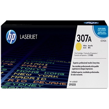 HP CLJ CP5220 YELLOW PRINT CARTRIDGE WITH COLORSPHERE TONER CE742A