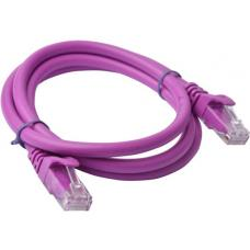8ware Cat 6a UTP Snagless 1m Purple