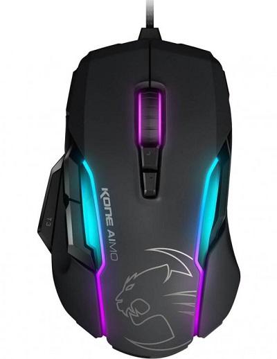 Roccat KONE AIMO RGBA Smart Customization Gaming Mouse (Grey Version)